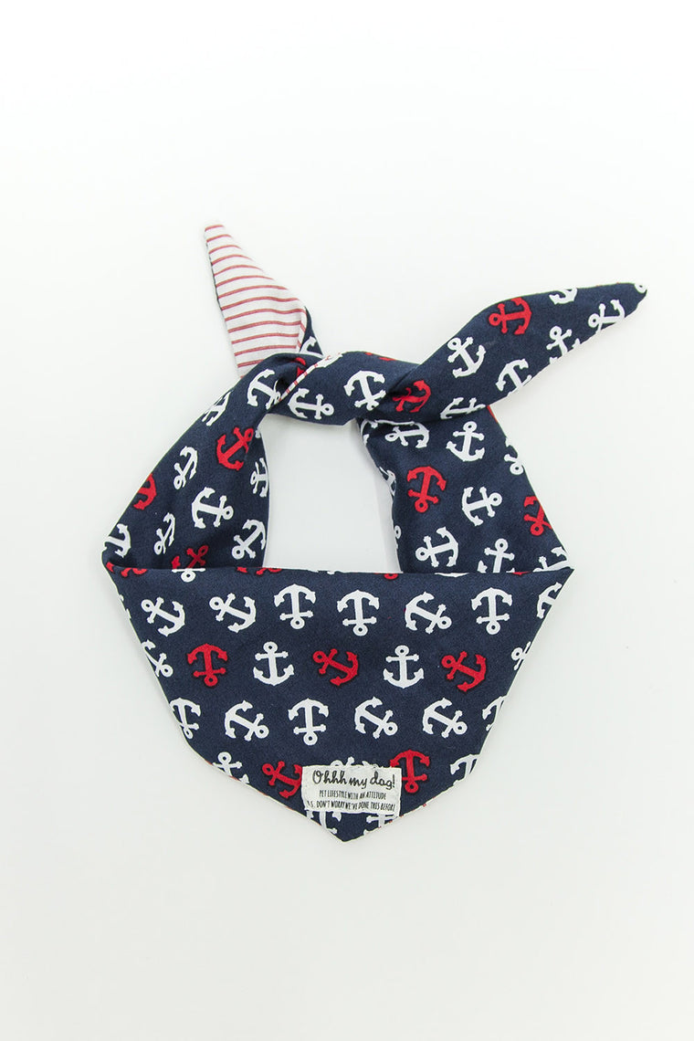 OHHH MY DOG - PET BANDANA - SAILOR JERRY BLUE - Pet Accessories - Ozon Boutique