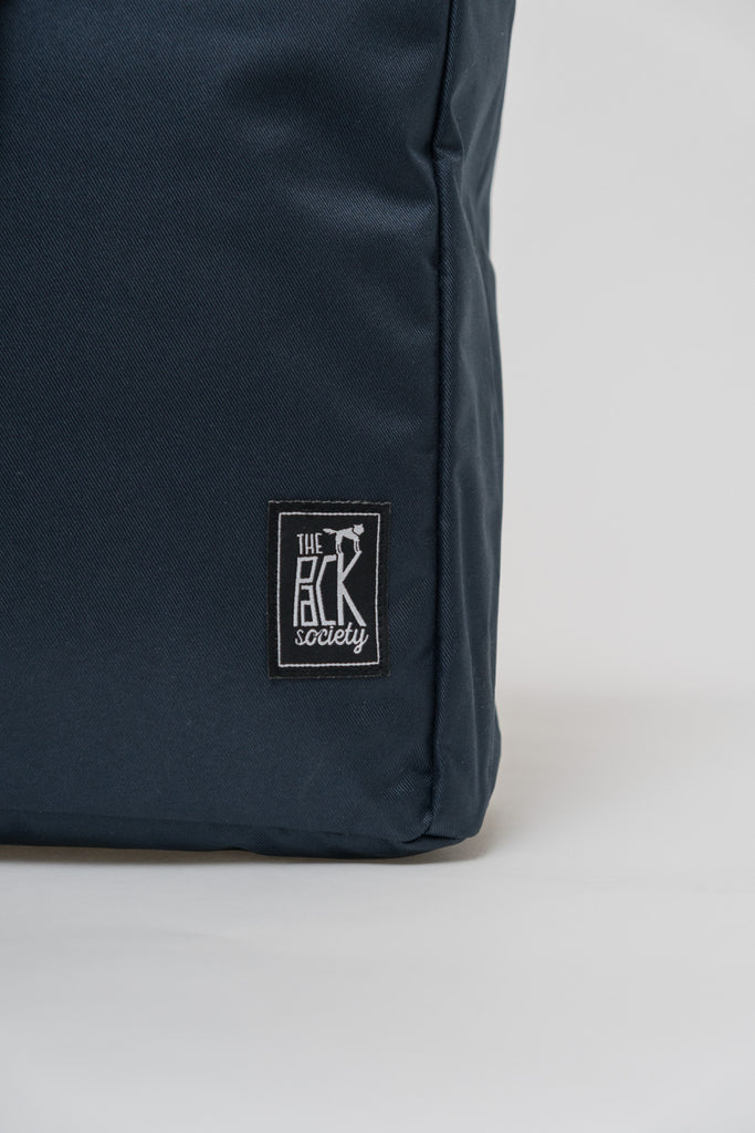 SQUARE DARK BLUE BACKPACK