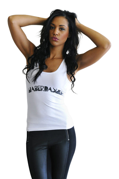 Women's Twisted Logo Stretch Tank (Low) - Haberdasher - Clothing Boutique