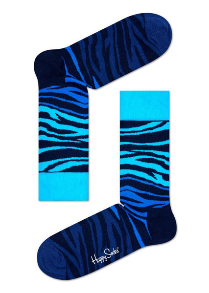 Zebra Sock Blue - Haberdasher - Clothing Boutique