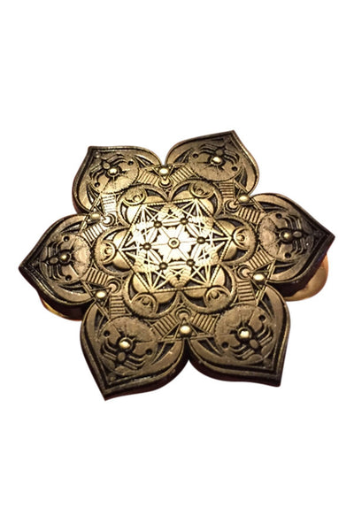 Golden Lotus Pin - Haberdasher - Clothing Boutique
