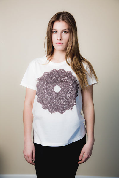 Women's Mandala Print Tee - Haberdasher - Clothing Boutique