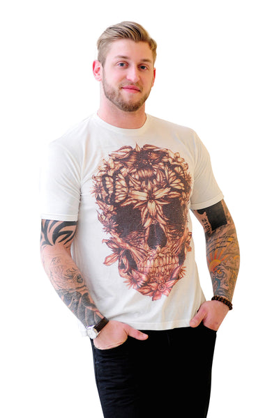 Golden Skull Print Tee - Haberdasher - Clothing Boutique