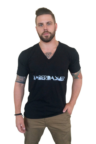 Twisted Logo Deep V - Haberdasher - Clothing Boutique