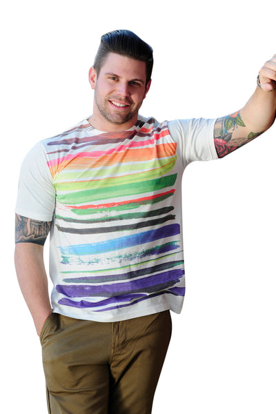 Brush Stroke Print Tee - Haberdasher - Clothing Boutique