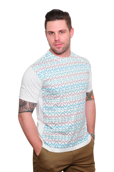 Mint Aztec Print Tee - Haberdasher - Clothing Boutique