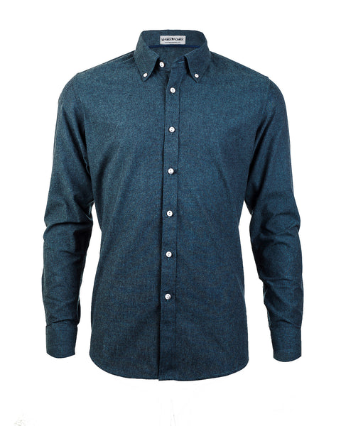 Heather Green Long Sleeve Shirt - Haberdasher - Clothing Boutique
