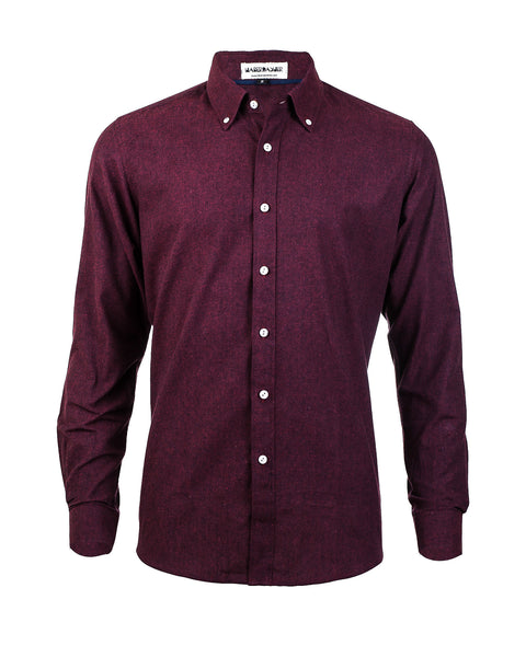 Heather Red Long Sleeve Shirt - Haberdasher - Clothing Boutique