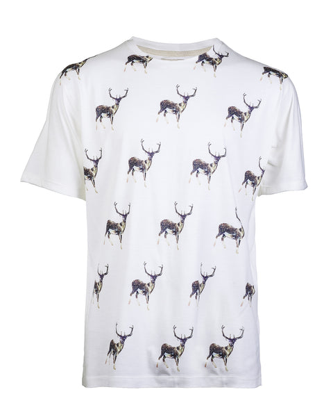 Deer Print Tee - Haberdasher - Clothing Boutique