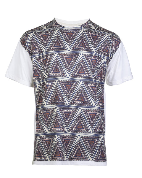 Women's Abstract Triangle Print Tee - Haberdasher - Clothing Boutique