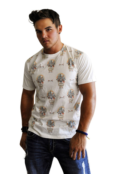 Sugar Skull Print Tee - Haberdasher - Clothing Boutique