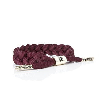 Braided Shoelace Bracelet: Merlot - Haberdasher - Clothing Boutique