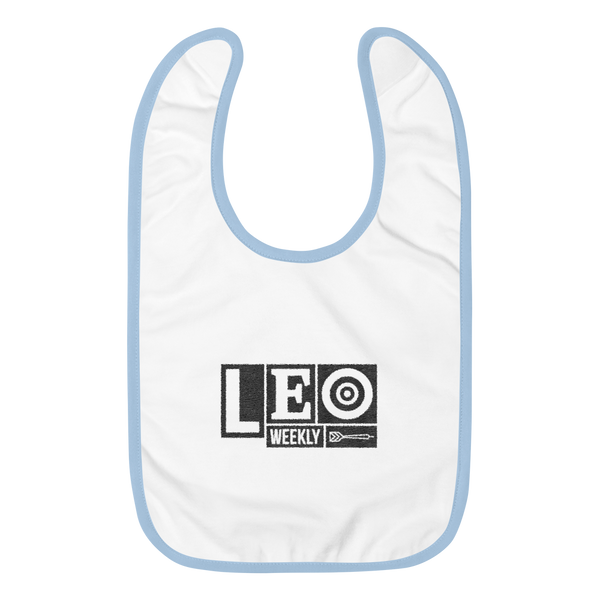 LEO Logo Embroidered Baby Bib