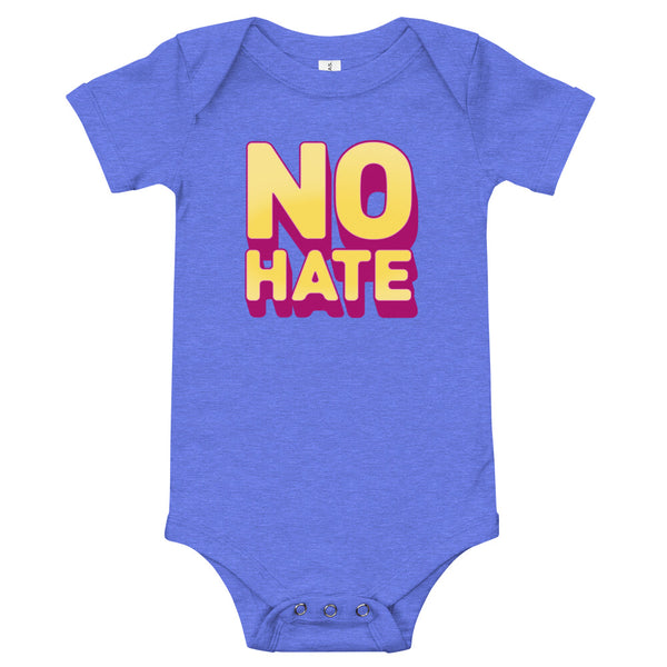 """No Hate"" Baby Onesie (Yellow)"