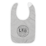 LEO Mosaic Embroidered Baby Bib
