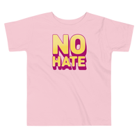"""No Hate"" Toddler T-Shirt (Yellow)"