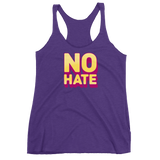 """No Hate"" Racerback Tank (Yellow)"