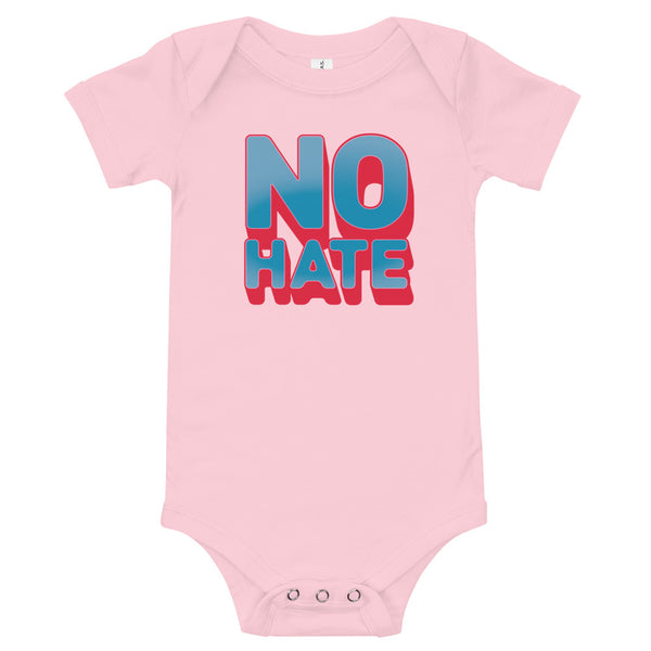 """No Hate"" Baby Onesie (Blue)"