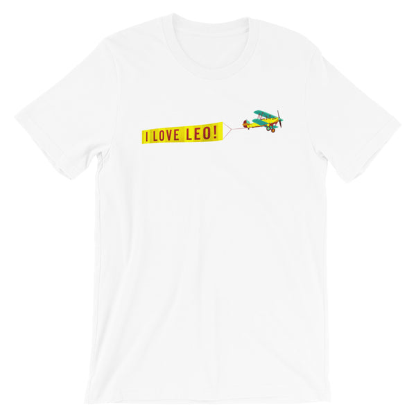 """I LOVE LEO"" Yellow Banner T-Shirt"