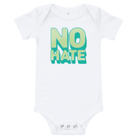 """No Hate"" Baby Onesie (Green)"