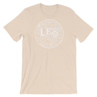 LEO Mosaic Logo in Blacks, Browns and Grays