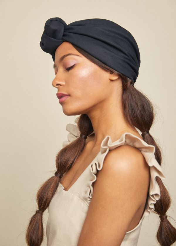 Turban Parelli par Heirloom Hats, lin