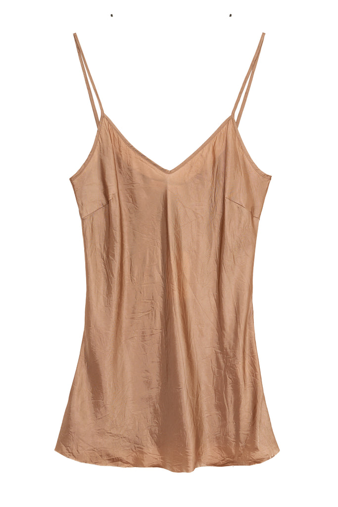 Women's light brown color Bias Camisole Top