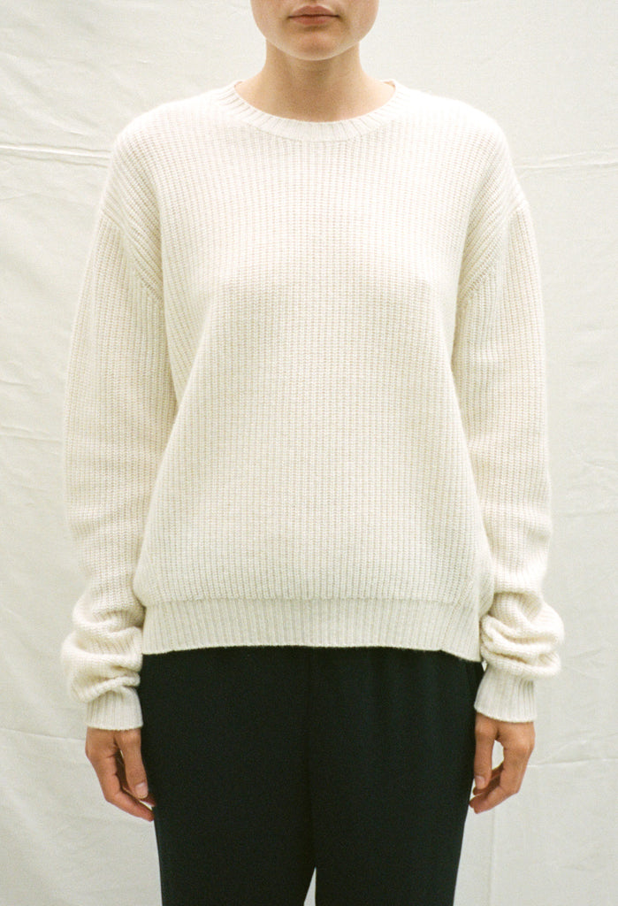 Cashmere Ribbed Sweatshirt