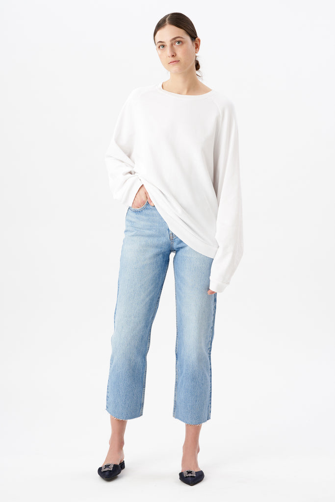 Elbow Stitch Sleeve Sweatshirt