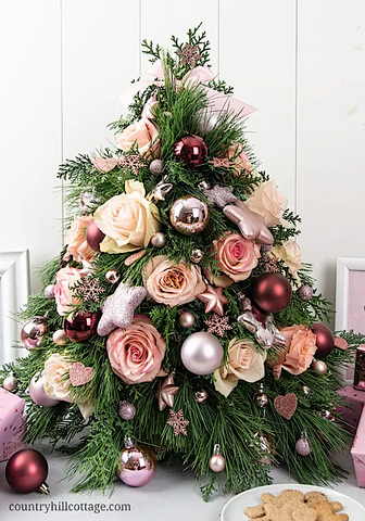 Tabletop Christmas Tree DIY from Country Hill Cottage