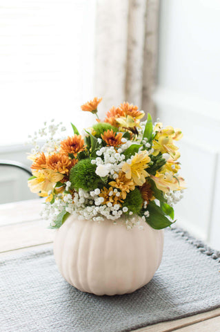thanksgiving flowers decor ideas pumpkin