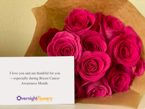 breast cancer awareness flowers