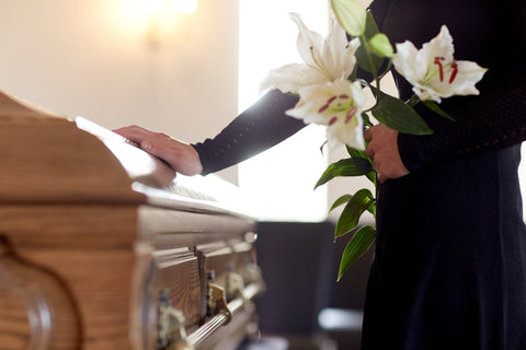lilies sympathy funeral flowers