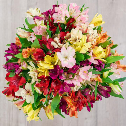 assorted alstromeria bouquet