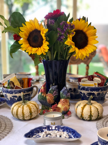 thanksgiving sunflower centerpiece