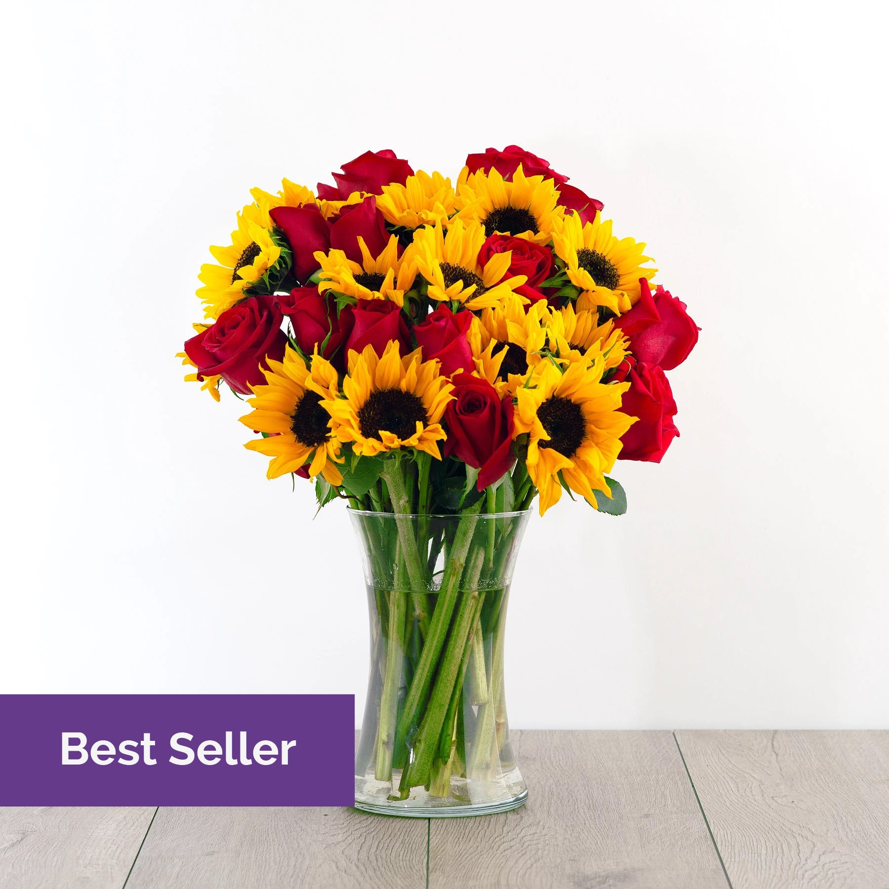 Red Roses And Sunflowers Free Delivery Overnight Flowers