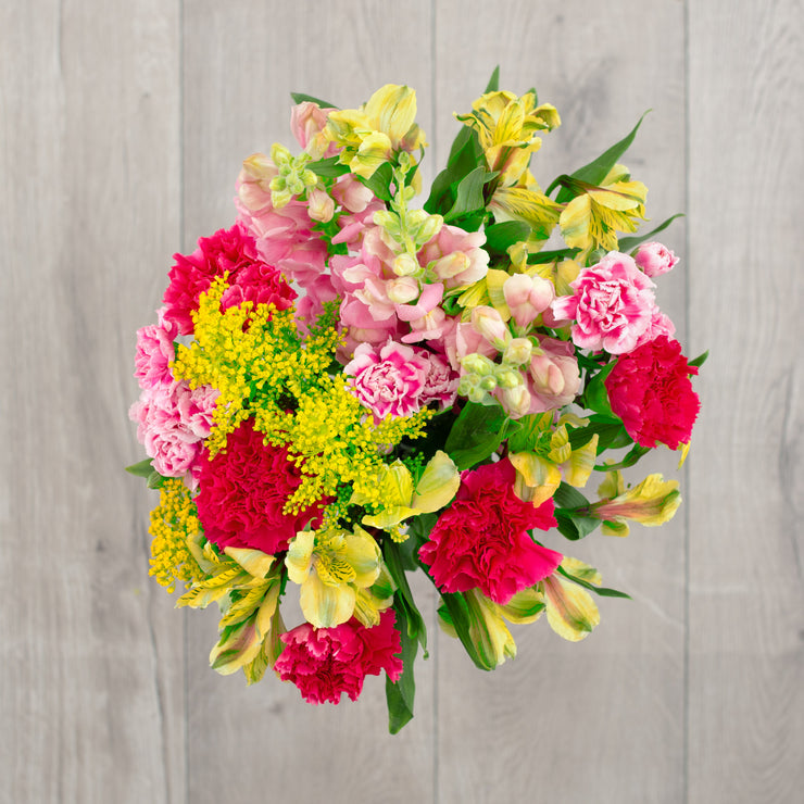 Pink and Green Mixed Flower Bouquet