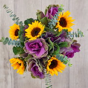 Sunflower and Kale Mixed Bouquet