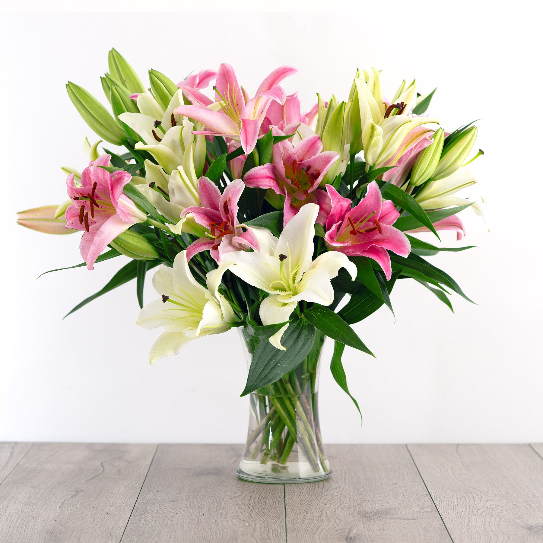 White And Pink Lilies Free Delivery Overnight Flowers