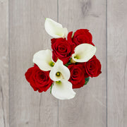 Red Roses and Calla Lilies
