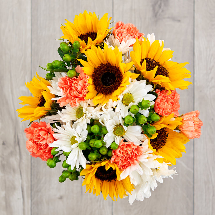 Carnations Sunflower mixed bouquet