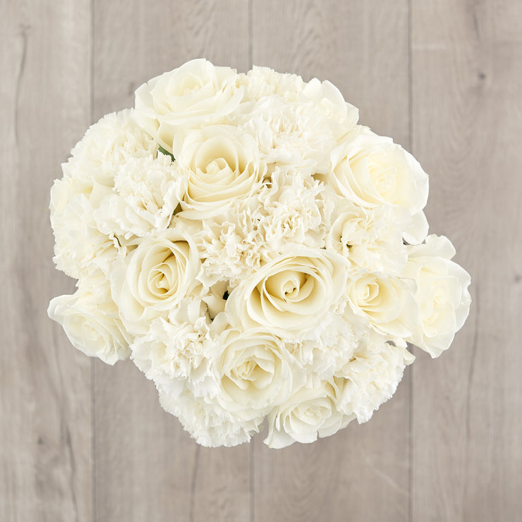 White Roses and Carnations