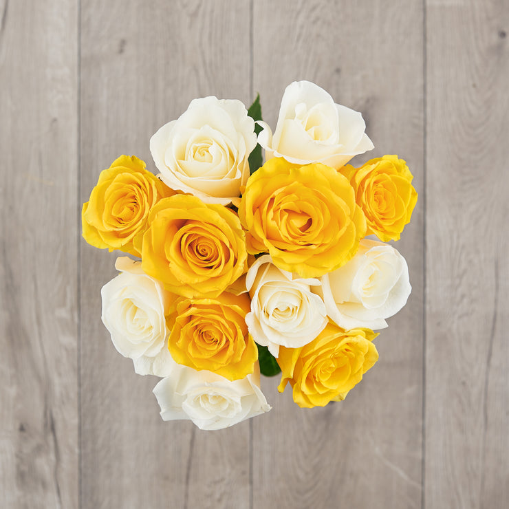Yellow and White Roses