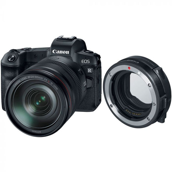 Canon EOS R Full Frame Mirrorless Camera with 24-105mm Lens & RF Adaptor Rental