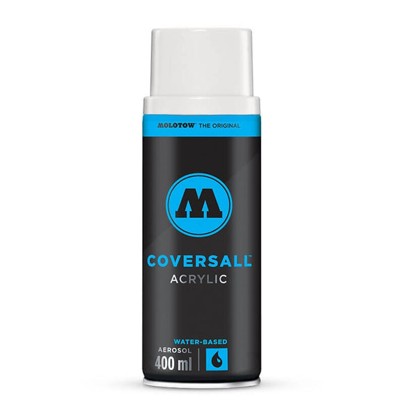 Signal White COVERSALL Acrylic Water Based 400ml