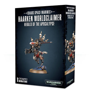 Chaos Space Marines Haarken Worldclaimer Herald of the Apocalypse
