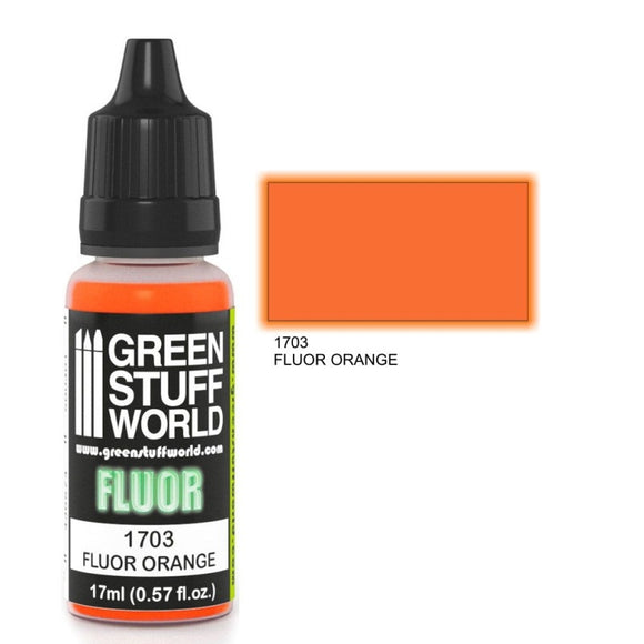 Peinture FLUOR ORANGE 17ml