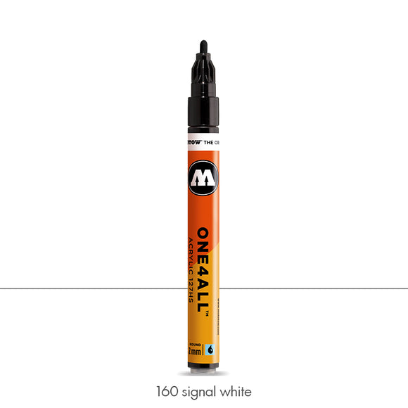 160 SIGNAL WHITE Marker Molotow 127HS - 2mm