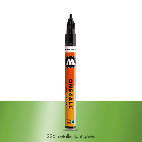 226 METALLIC LIGHT GREEN Marker Molotow 127HS - 2mm