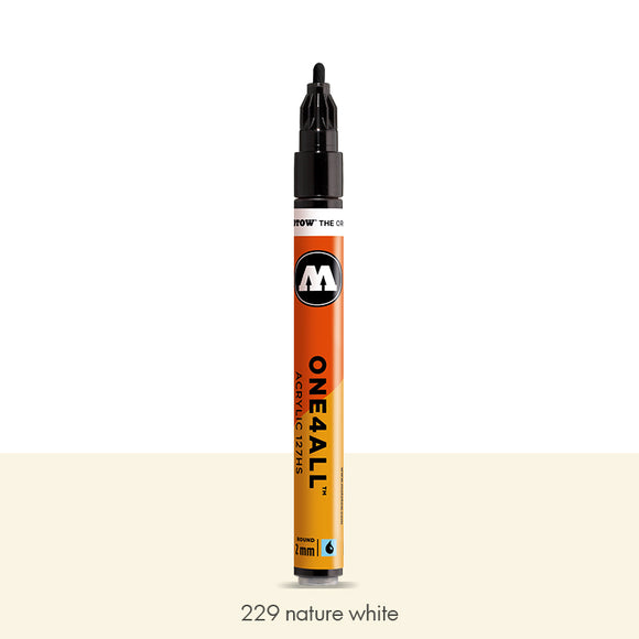 229 NATURE WHITE Marker Molotow 127HS - 2mm